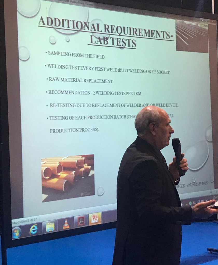 Watec-Italy-2018-Session3-Day1-Water-Distribution-Management-Eddie Gosher, Head of Plastic & Irrigation Systems